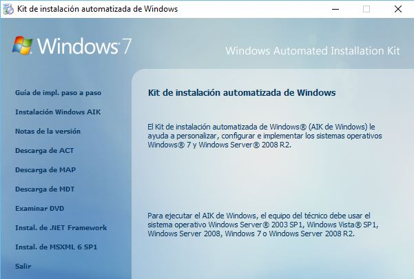 Instalación desatendida Windows pasoo 2