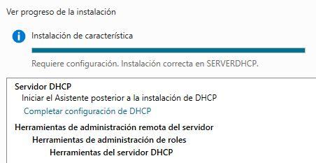 Configuración DHCP Windows Server 2016