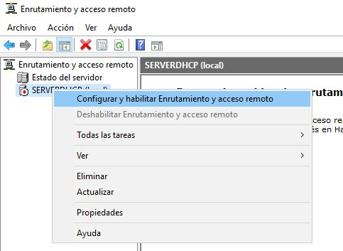 Enrutamiento Windows Server 2016