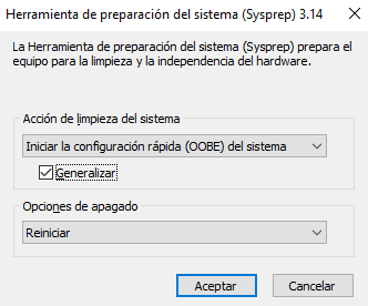 Sysprep DHCP en Windows Server 2016
