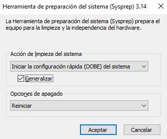 Sysprep DHCP en Windows Server 2016