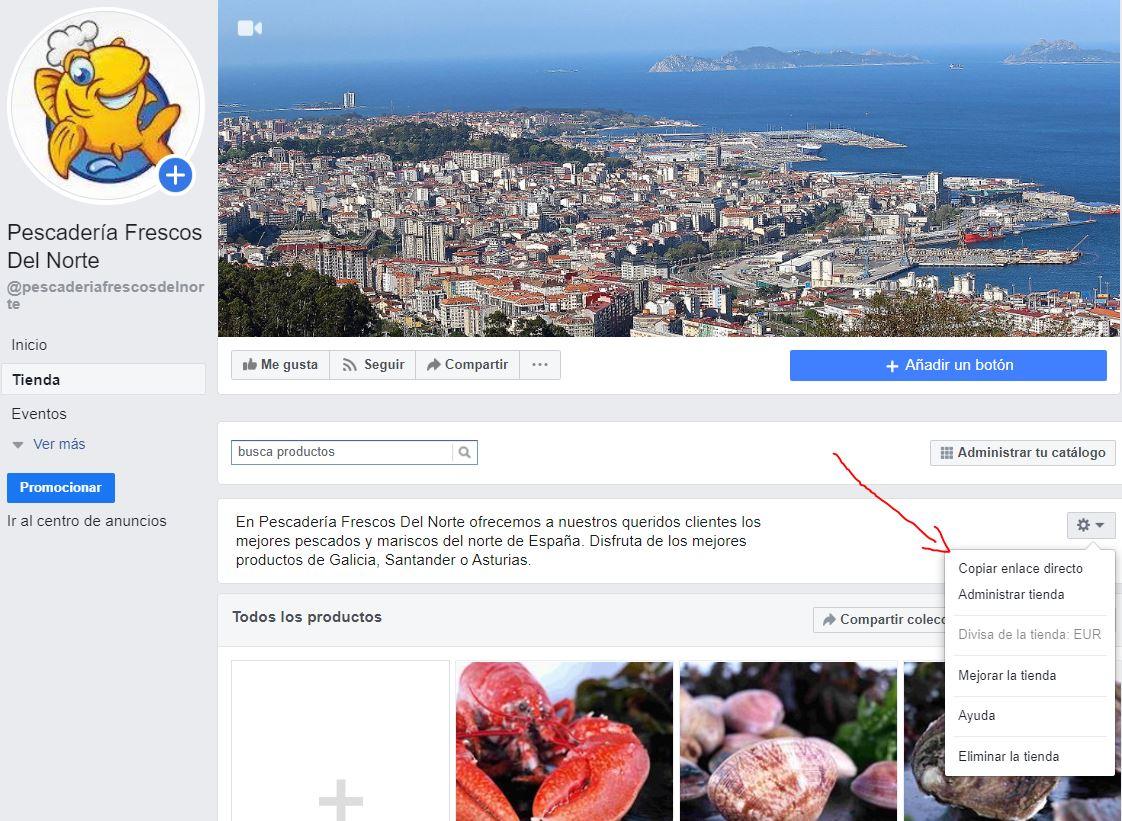 enlace tienda en facebook
