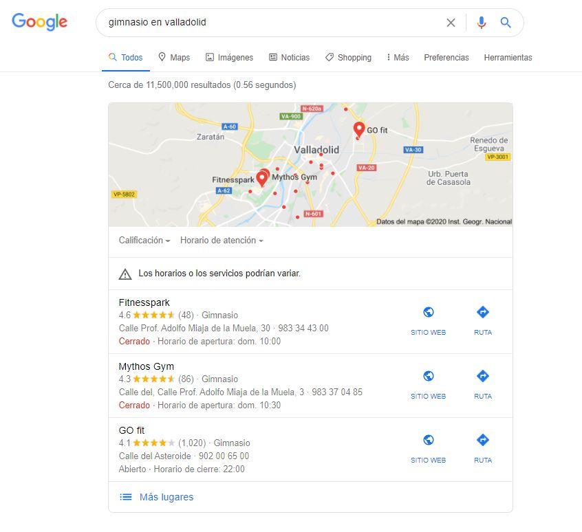 como salir en google maps posicionamiento local