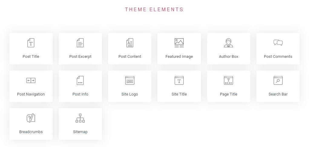 elementor pro elementos del tema