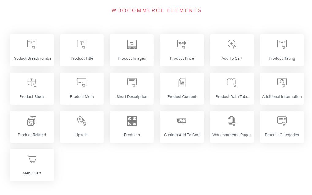 elementor pro elementos de woocommerce